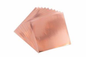 Sizzix Surfacez Adhesive Aluminum Metal Sheets Rose Gold 10 pcs
