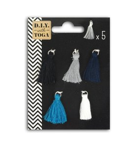 Set mini tassels de hilo Cyclades