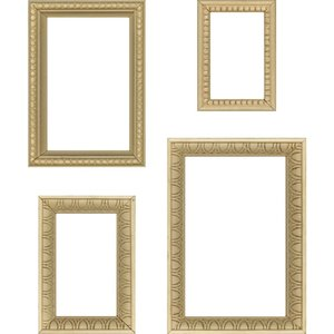 Tim Holtz Idea-Ology Wooden Vignette Frames 4 pcs