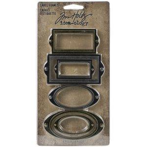 Tim Holtz Idea-Ology Metal Label Frames 6 pcs