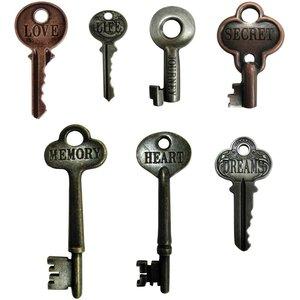 Tim Holtz Idea-Ology Metal Word Keys 7 pcs
