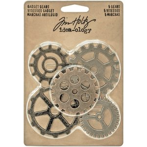 Tim Holtz Idea-Ology Metal Gadget Gears 5 pcs