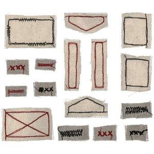 Tim Holtz Idea-Ology Stitched Scraps 16 pcs