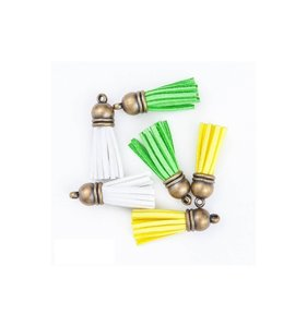 Set de Tassels White-Yellow-Green