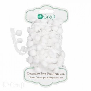 Decorative Pom-Pom Trim 3 m White