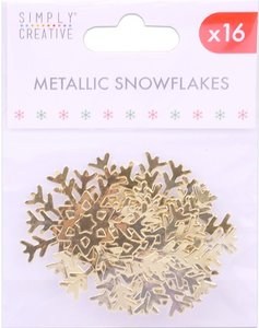 Simply Creative Christmas Metallic Snowflakes Gold