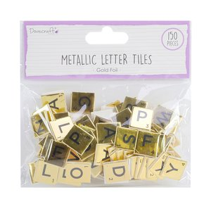 Letras Scrabble Dovecraft Foil Gold 150 pcs