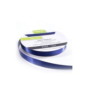 Cinta de raso 9 mm x 10 mt Azul Marino