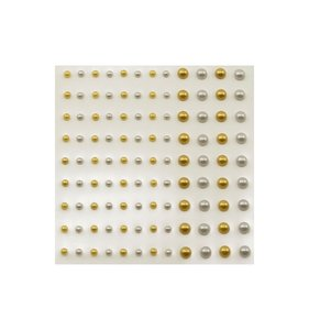 Perlitas nacaradas adhesivas Oro y plata