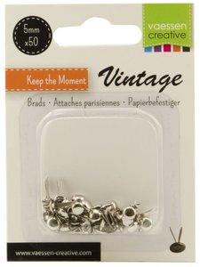 Brads Vaessen Vintage Silver 5 mm 50 pcs