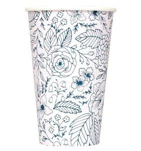 Vasos de café con tapa Blue