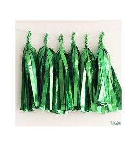 Set de 5 Tassel de flecos Verde brillante