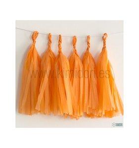 Set de 5 Tassel de flecos Naranja