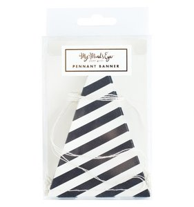 Banderines Rayas Black & White