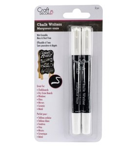 Set 2 pk Rotuladores Chalk Blancos