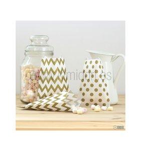 Mini Bolsitas de papel Oro