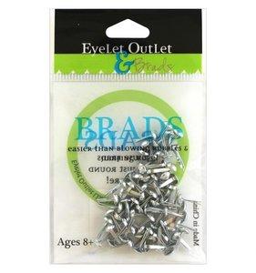 Brads 4 mm Silver