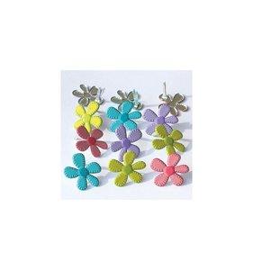 Set de brads Stitched Flowers - Bright
