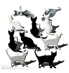 Set de brads Silhouette Cat