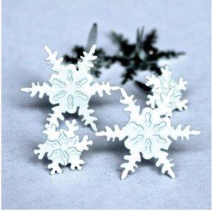 Set de brads Snowflakes 12 pcs