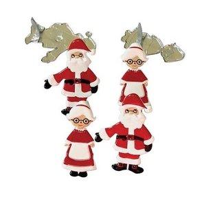 Set de brads Santa & Mrs Claus 12 pcs