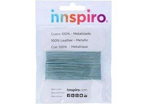 Cordón 1 mm cuero metalizado Azul Cielo