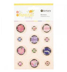 Botones adhesivos Mimosa Sunday