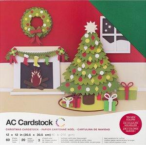 Stack Especial cartulinas texturizadas AC Christmas 60 pcs