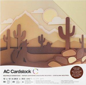 Stack Especial cartulinas texturizadas AC Neutrals 60 pcs