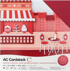 Stack Especial cartulinas texturizadas AC Valentine's 60 pcs