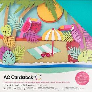 Stack Especial cartulinas texturizadas AC Tropicals 60 pcs