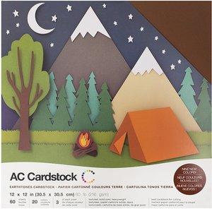 Stack Especial cartulinas texturizadas AC Earthtones 60 pcs