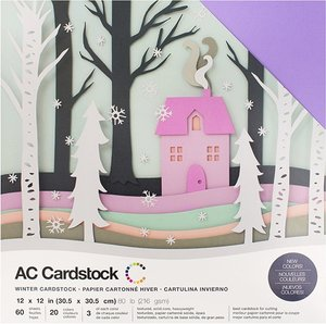 Stack Especial cartulinas texturizadas AC Winter 60 pcs
