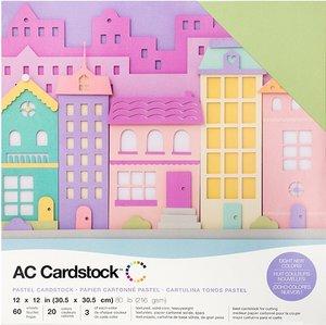 Stack Especial cartulinas texturizadas AC Pastels 60 pcs