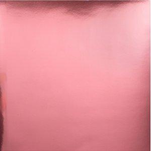 "Cartulina con Foil Bazzill 12x12"" Light Pink"