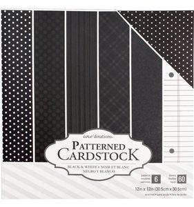 Value Pack Cartulinas Patterned Black