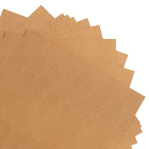 Pack 10 cartulinas Kraft Liner Natural 300 gr 12x12""