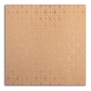 Cartulina Kraft & Flair Gold Foil
