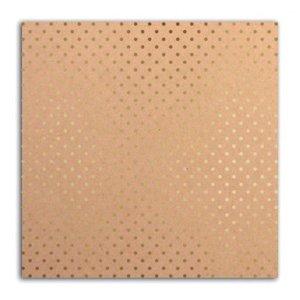 Cartulina Kraft & Small Dots Gold Foil
