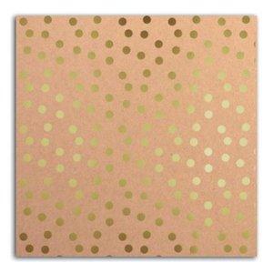 Cartulina Kraft & Dots Gold Foil