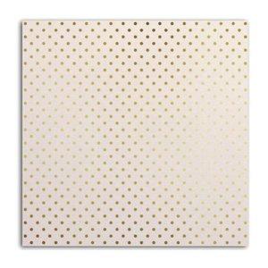 Cartulina White & Dots Gold Foil