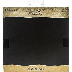 "Stack cartulina texturizada negra 8"" x 8"" Tim Holtz Kraft-Stock"