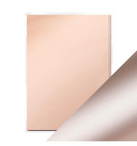 Pack 5 cartulinas A4 Mirror Satin Rose