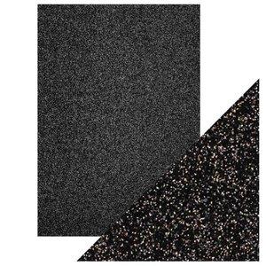 Cartulina A4 DeLuxe Glitter Black Sapphire