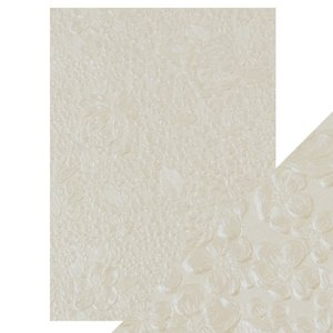 Papel A4 DeLuxe textura 3D Ivory Bouquet