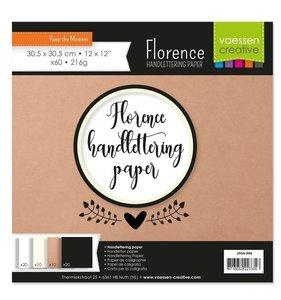 """Handlettering Paper 12x12"""" colores surtidos 60 pcs"""