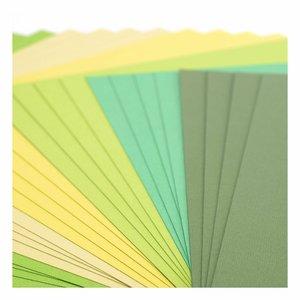 """Pad Cartulinas texturizadas Florence 12x12"""" Green Tones 24 pcs"""