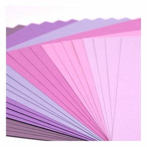 "Pad Cartulinas texturizadas Florence 12x12"" Purple Tones 24 pcs"