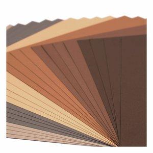 """Pad Cartulinas texturizadas Florence 12x12"""" Brown Tones 24 pcs"""