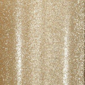 "Cartulina Adhesiva Glitter Fine 12x12"" Light Gold"